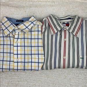 Lot of 2 Tommy Hilfiger longsleeve dress shirt XL